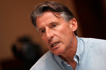 IAAF President Sebastian Coe on the IAAF governance reform roadshow (AFP / Getty Images)