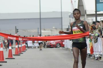 Medina Deme Armino, the 2018 Beirut Marathon winner (Organisers)