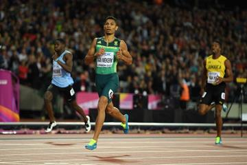 Wayde van Niekerk wins the 400m at the IAAF World Championships London 2017 (Getty Images)