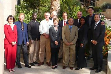 IAAF Coaches' Commission Members in Monaco (IAAF)