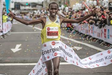 Nicholas Chelimo, winner of the 2013 Cologne Marathon (Organisers)