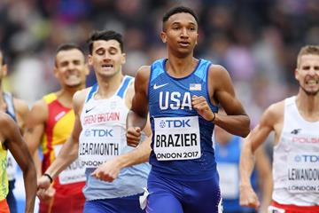 Donavan Brazier at the 2017 IAAF World Championships (Getty Images)