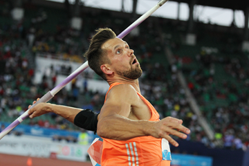 Magnut Kirt, winner of the javelin at the IAAF Diamond League meeting in Rabat (Jean-Pierre Durand)