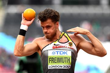 Rico Freimuth in the decathlon shot put at the IAAF World Championships London 2017 (Getty Images)