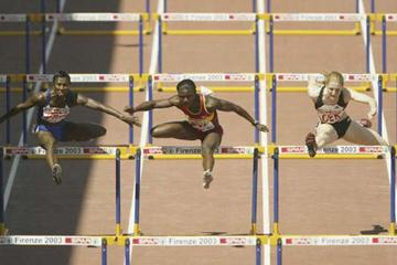 Glory Alozie winning the women's 100m Hurdles in the European Cup (Getty Images)