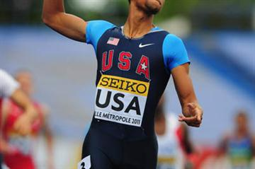 Gold medalist Arman Hall of USA crosses the line to win the Boys Medley - Day Five - WYC Lille 2011 (Getty Images)