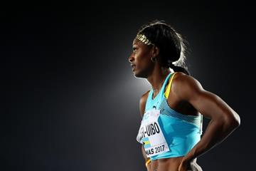 Shaunae Miller-Uibo in the 4x400m at the IAAF/BTC World Relays Bahamas 2017 (Getty Images)