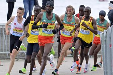 Guye Adola in action at the World Athletics Half Marathon Championships Gdynia 2020 (Getty Images)