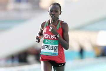 Kenyan distance runner Ruth Chepngetich (Jean-Pierre Durand)