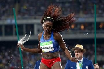 Caterine Ibarguen in the triple jump at the Rio 2016 Olympic Games (Getty Images)