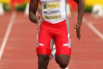 10.05 win for Simeon Williamson in Birmingham (Getty Images)