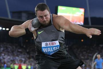 Tom Walsh in the shot put at the IAAF Diamond League meeting in Zurich (Jean-Pierre Durand)