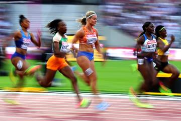 Marie-Josee Ta Lou and Dafne Schippers in the 100m at the IAAF World Championships London 2017 (Getty Images)