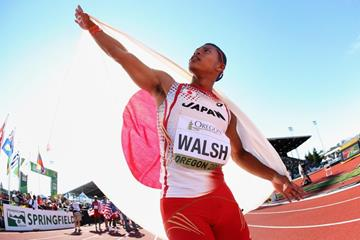 Japanese 4x400m runner Julian Jrummi Walsh at the IAAF World Junior Championships, Oregon 2014 (Getty Images)