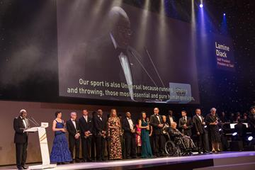 IAAF Hall of Fame members at the IAAF Centenary Gala in Barcelona (Philippe Fitte)