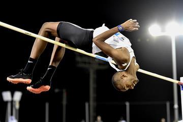 Qatari high jumper Mutaz Barshim (Hasse Sjogren)