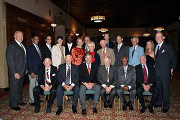 Among Olympic gold medalists who gathered at the New York Athletic Club on October 11th, 2006 to honor Al Oerter were Otis Davis, Bob Beamon, Jenny Thompson, Pat McCormick, Horace Ashenfelter, Tom Courtney, Ray Lumpp, Charley Moore ands Ollan Cassell. (Victah Sailer / Photo Run)