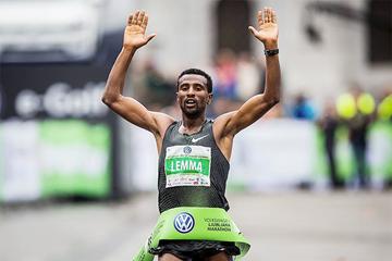 Sisay Lemma wins the Ljubljana Marathon (Organisers)