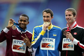 Mens High Jump Medal Ceremony at the IAAF World Athletics Championships Moscow 2013 (Getty Images)