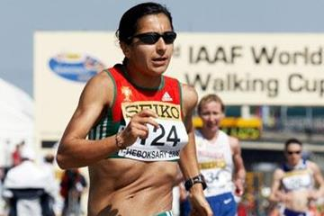Vera Santos of Portugal on her way to winning the bronze medal (Getty Images)
