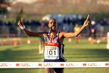 Mo Farah (GBR) wins at the 2006 European XC in San Giorgio su Legnano (Hasse Sjögren)