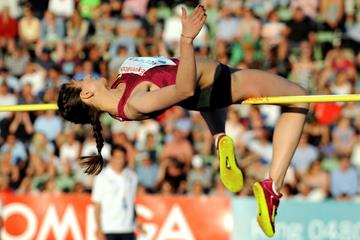Mariya Kuchina at the 2014 IAAF Diamond League in Oslo (Mark Shearman)