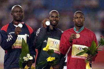 Uchenna Emedolu (left) with Commonwealth silver (Getty Images)