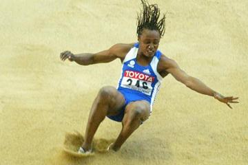Eunice Barber wins the long jump final (Getty Images)