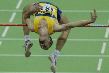 Stefan Holm of Sweden qualifies for the High Jump final (Getty Images)