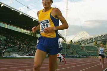 Craig Mottram running at the 2005 Australian Champs (Getty Images)