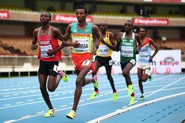 Selemon Barega in the 3000m at the IAAF World U18 Championships Nairobi 2017 (Getty Images)