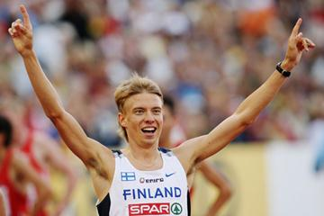 Jukka Keskisalo after his surprise European Steeplechase victory in Gothenburg (Getty Images)