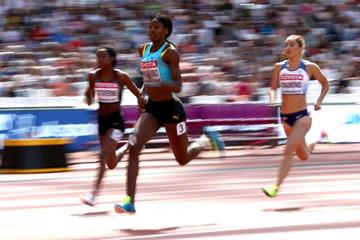 Shaunae Miller-Uibo in the 400m at the IAAF World Championships London 2017 (Getty Images)