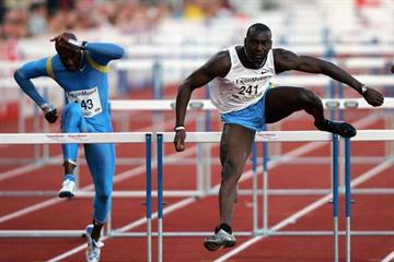 Ladji Doucouré of France clocks 13.00 to win Oslo's Golden League 110m Hurdles (Getty Images)