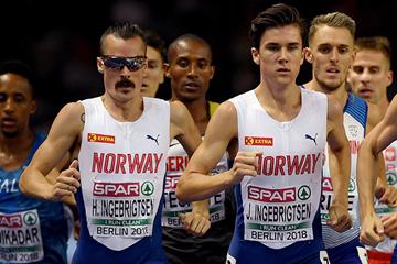 Henrik, Jakob and Filip Ingebrigsten in action at the European Championships (Getty Images)