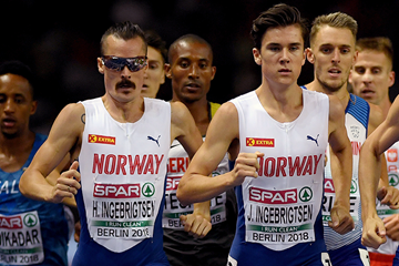 Henrik, Jakob and Filip Ingebrigsten in action at the European Championships (Getty Images)