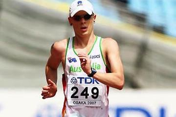Chris Erickson in the 50km in Osaka (Getty Images)