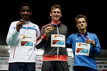 Boys' decathlon podium at the IAAF World Youth Championships, Cali 2015 (Getty Images)