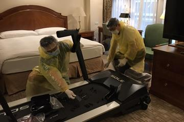 Organisers install treadmills in athletes' hotel rooms ahead of the Taipei Marathon (Organisers)