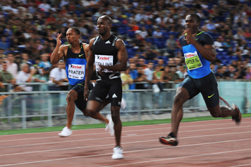 Kim Collins in the 100m at the Golden Gala in Rome (Getty Images)