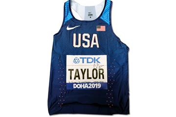 Christian Taylor's singlet from the World Athletics Championships Doha 2019 (WA)