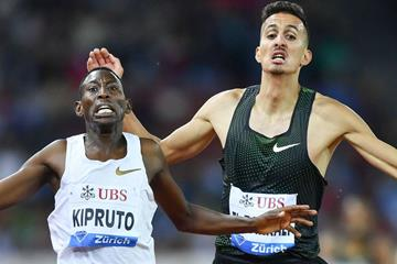 The Conseslus Kipruto - Soufiane El Bakkali rivalry to continue in Aarhus (AFP/Getty Images)