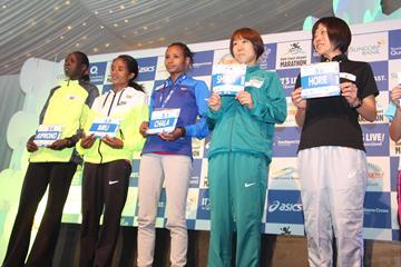 The leading women's runners ahead of the 2016 Gold Coast Marathon (Organisers)
