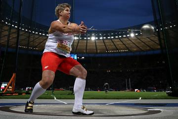 Anita Wlodarczyk in the hammer at the European Championships (Getty Images)