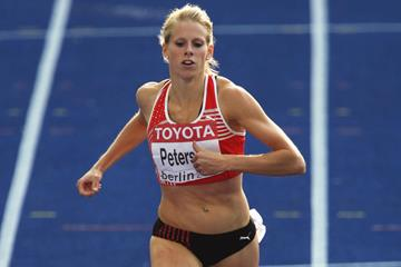Denmark's Sara Petersen in the women's 400m hurdles at the 2009 IAAF World Championships in Berlin (Getty Images)