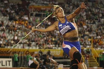 Maria Abakumova launches a 68.14m competition record at the IAAF / VTB Bank Continental Cup in Split (Getty Images)