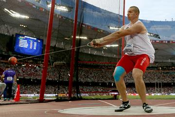 Wojciech Nowicki in the hammer at the IAAF World Championships, Beijing 2015 (Getty Images)