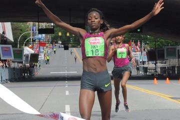 Lucy Kabuu wins the Freihofer's Run For Women in Albany (Organisers)