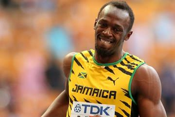 Usain Bolt in the mens 4x100m Relay at the IAAF World Athletics Championships Moscow 2013 (Getty Images)