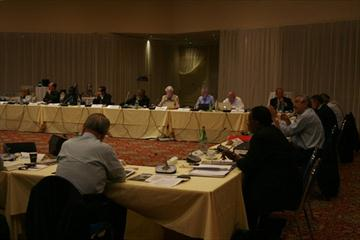 Members of the IAAF Council meeting in Monaco (Bob Ramsak)